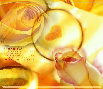 cuore arancione e tante bellissime rose arancioni per te